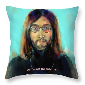 Throw Pillow featuring the mixed media Dreamer by Lora Serra