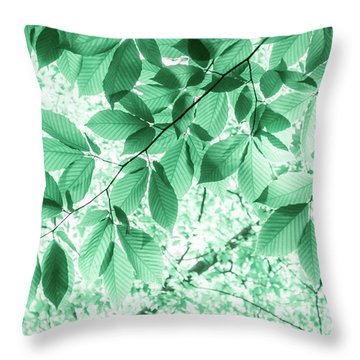 Dreaming Of Summer In Paolo Veronese Green Throw Pillow