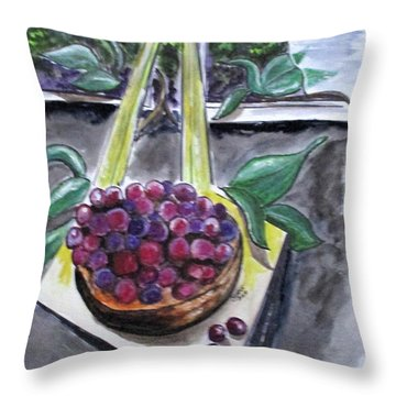 Dreams Of Grapes Throw Pillow