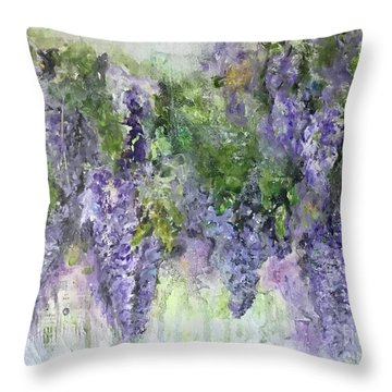 Dreams Of Wisteria Throw Pillow