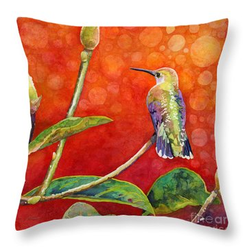 Dreamy Hummer Throw Pillow