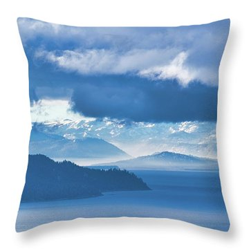 Dreamy Kind Of Blue Throw Pillow