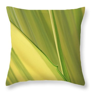 Dreamy Leaves Throw Pillow