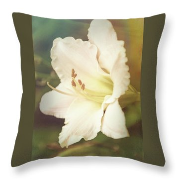 Throw Pillow featuring the photograph Dreamy Lily by Leda Robertson