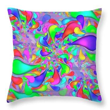 Drib Complex Throw Pillow