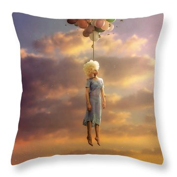 Drifting On A Sad Song Throw Pillow