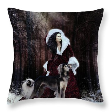 Drive The Cold Winter Away Throw Pillow