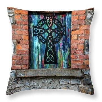 Drogheda Celtic Cross Throw Pillow