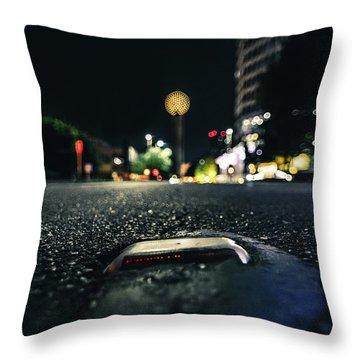 Dropped Pin Throw Pillow