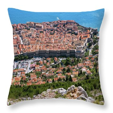 Dubrovnik Panorama From The Hill Throw Pillow