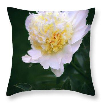 Duchesse De Nemours Peony Throw Pillow
