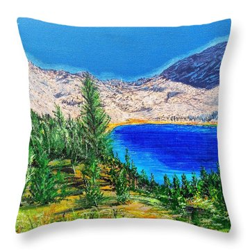 Throw Pillow featuring the painting Duck Pass by Kevin Daly