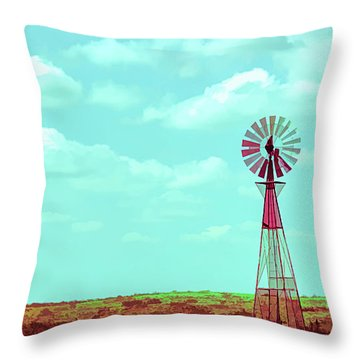 Dueling Tones Windmill Throw Pillow