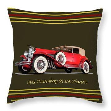 Duesenberg 1935 Throw Pillow