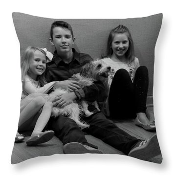 Duke And Friends Throw Pillow
