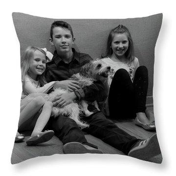 Duke And Friends Throw Pillow