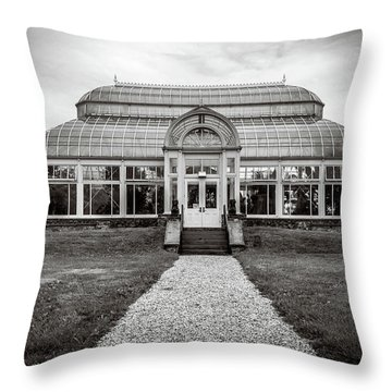 Throw Pillow featuring the photograph Duke Farms Conservatory by Steve Stanger