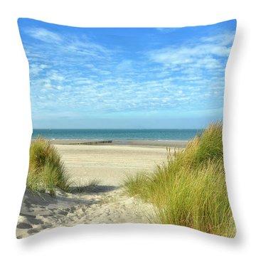 Dunes-day In October Throw Pillow