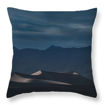 Dunes Of The Death Valley Throw Pillow