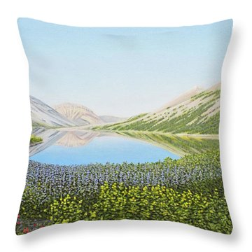Throw Pillow featuring the painting Yukon Spring by Kenneth M Kirsch