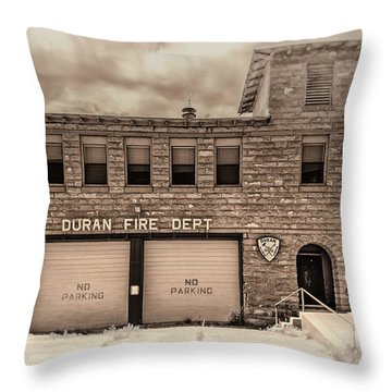 Duran Fire Dept Throw Pillow