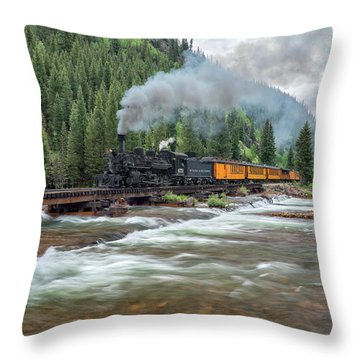 Durango Silverton Train 473 Throw Pillow