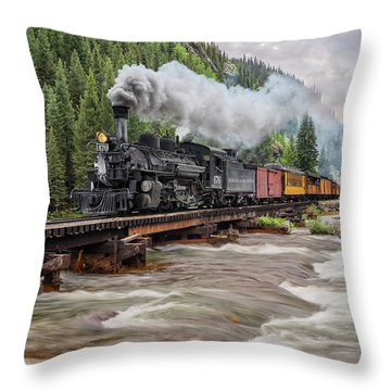 Durango Silverton Train 476 Throw Pillow