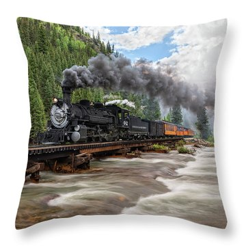 Durango Silverton Train 482 Throw Pillow