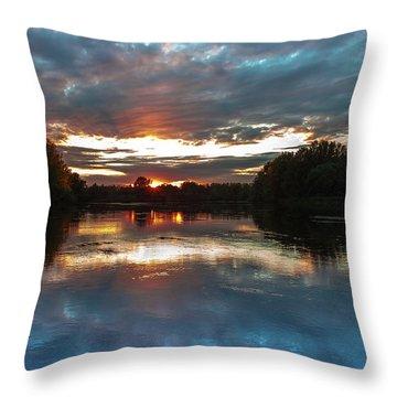 Dusk Aquarelle Throw Pillow