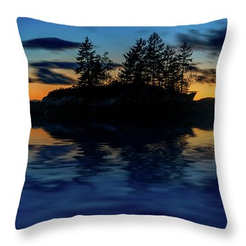 Throw Pillow featuring the photograph Dusk At Lookout Point by Rick Berk