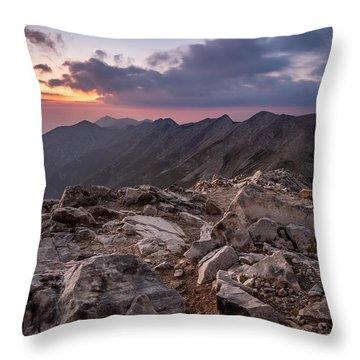 Dusk At Peak Vihren  Throw Pillow