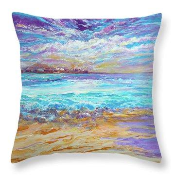 Dusk At The Beach Throw Pillow