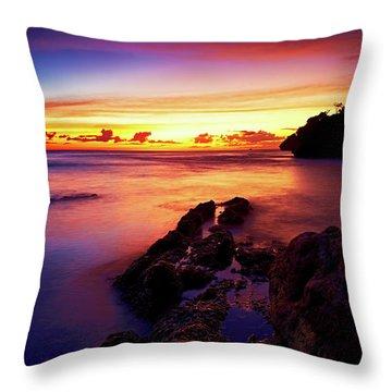 Dusk, Columbus Bay Throw Pillow