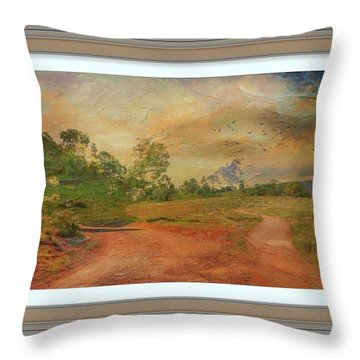 Dusk In The Hills Throw Pillow