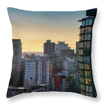 Dusky Hues Over The Pacific Throw Pillow