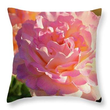 Dusky Roses Throw Pillow