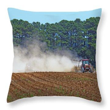 Dust Farming Throw Pillow