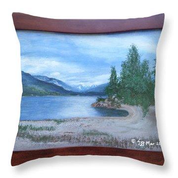 Dutch Harbour, Kootenay Lake Throw Pillow