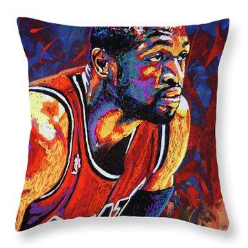 Dwyane Wade 3 Throw Pillow