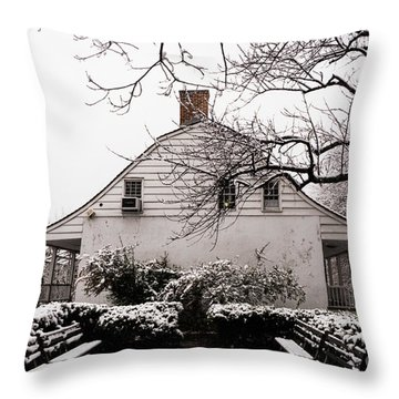 Throw Pillow featuring the photograph Dyckman Farmhouse In Winter by Cole Thompson