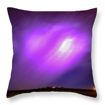 Dying Late Night Supercell 016 Throw Pillow