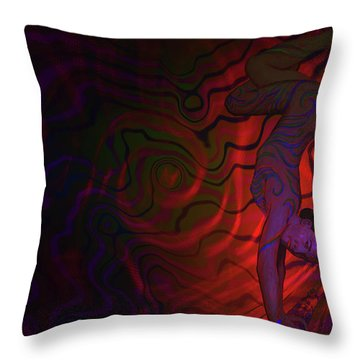 Dynamic Color 3 Throw Pillow