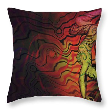 Dynamic Color Throw Pillow