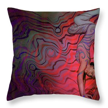 Dynamic Color2 Throw Pillow