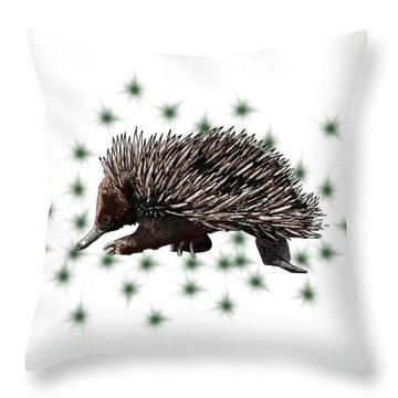 E Is For Echidna Throw Pillow