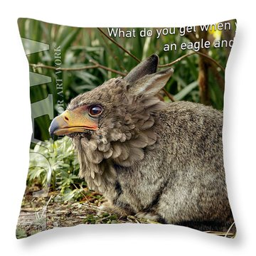 Throw Pillow featuring the digital art Eaglabbit by ISAW Company