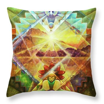 Eagle Boy And The Dawning Of A New Day Throw Pillow