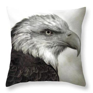 Eagle Protrait Throw Pillow