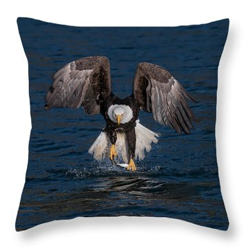 Deadly Catch Throw Pillow