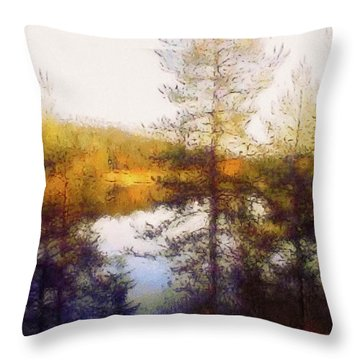 Early Autumn In Finland Throw Pillow